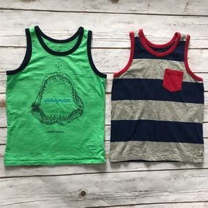 GAP Kids Tank Top bundle Green shark blue striped